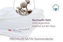 Premium satin cotton summer blanket